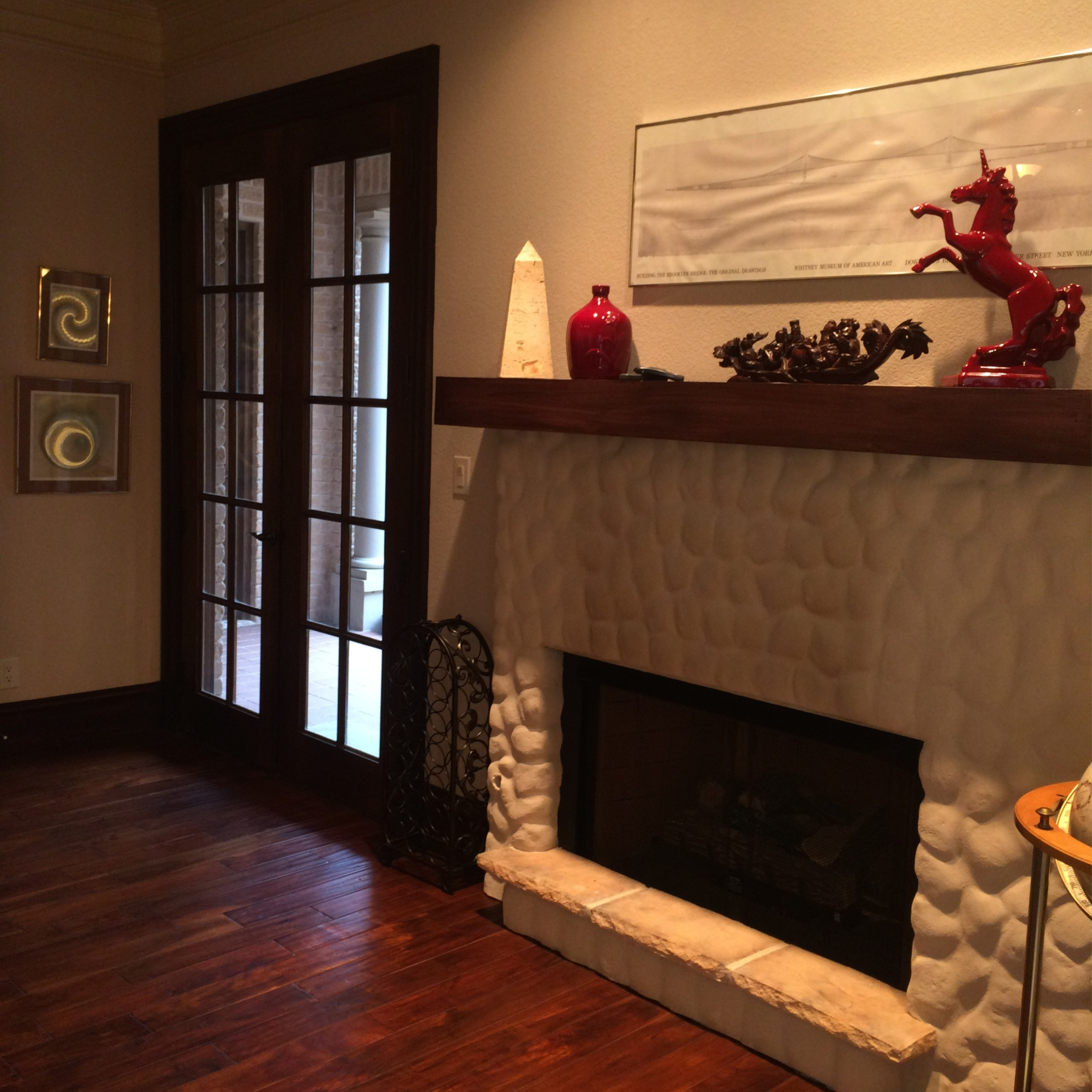 formal living fireplace
